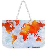 World Map - Citrus Passion - Abstract - Digital Painting 2 Weekender Tote Bag