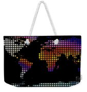 World Map Colourful Dots #2 Weekender Tote Bag