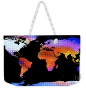 World Map Colourful Dots  Weekender Tote Bag
