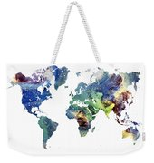 World Map Cosmos Weekender Tote Bag