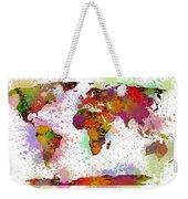 World Map Digital Watercolor Painting Weekender Tote Bag