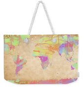 World Map Pastel Watercolors Weekender Tote Bag