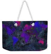 World Map - Purple Flip The Dark Night - Abstract - Digital Painting 2 Weekender Tote Bag by Andee Design