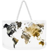 World Map Sandy World Weekender Tote Bag