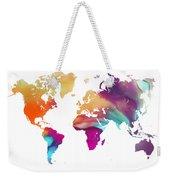 World Map Watercolor Weekender Tote Bag