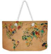 World Map Watercolor Painting 2 Weekender Tote Bag