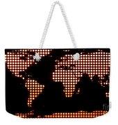 World Map Yellow Dots Weekender Tote Bag