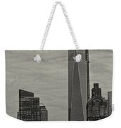 World Trade Center Construction Weekender Tote Bag