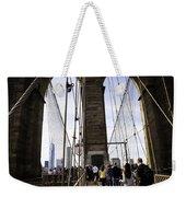 World Trade Center Through The Bridge Weekender Tote Bag