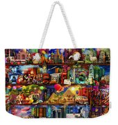 World Travel Book Shelf Weekender Tote Bag