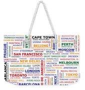 World Travel Weekender Tote Bag