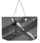 Stearman Trainer Bi Plane Black And White Weekender Tote Bag