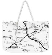 World War I Map, C1916 Weekender Tote Bag