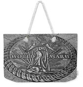 World War II Medallion Bw Weekender Tote Bag