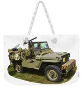 World War Two - Willys - Army Jeep  Weekender Tote Bag