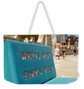 Worlds Most Famous Beach Bench Weekender Tote Bag