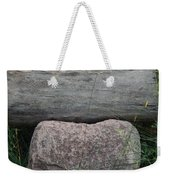 Worm Wood And Granite Weekender Tote Bag