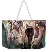 Worn Ballet Slippers Weekender Tote Bag
