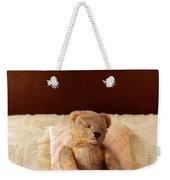Worn Teddy Bear On Bed Weekender Tote Bag