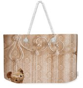 Worn Teddy Bear On Brass Bed Weekender Tote Bag
