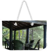 Worn Wicker Chairs On Old Veranda Weekender Tote Bag