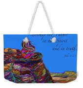 Worship The Father Weekender Tote Bag