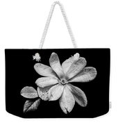 Wounded White Magnolia Wide Version Black And White Weekender Tote Bag