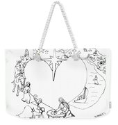 Wrapped In The Arms Of His Love Weekender Tote Bag