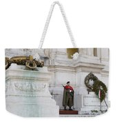 Wreath And Guard At The Tomb Of The Unknown Soldier Weekender Tote Bag