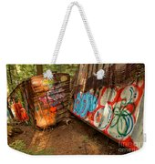 Wrecked Whistler Trains Weekender Tote Bag