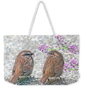 Wren Bird Sweethearts Weekender Tote Bag