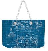 Wright Brothers Aero Engine Vintage Patent Blueprint Weekender Tote Bag