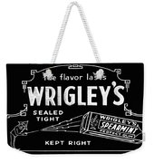 Wrigleys Spearmint Gum Weekender Tote Bag
