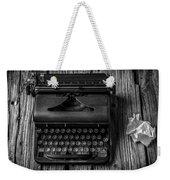 Write Me Weekender Tote Bag