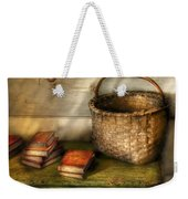 Writer - A Basket And Some Books Weekender Tote Bag