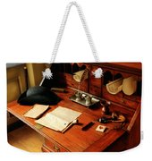 Writer - The Desk Of A Gentleman  Weekender Tote Bag by Mike Savad