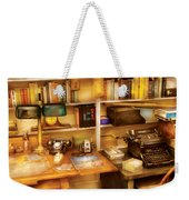 Writer - The Desk Of A Writer  Weekender Tote Bag by Mike Savad