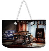 Writer - Typewriter - The Aspiring Writer Weekender Tote Bag by Mike Savad