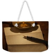 Writing A Letter By Candle Light Weekender Tote Bag