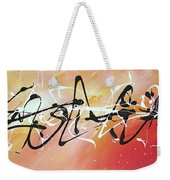Writing On The Wall By Madart Weekender Tote Bag