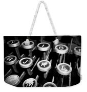 Writing The Great Novel - Black And White Weekender Tote Bag