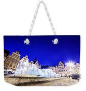Wroclaw Poland The Market Square And The Famous Fountain At Night Weekender Tote Bag