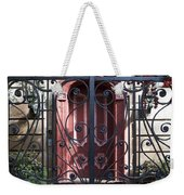 Wrought Iron Gate And Red Door Charleston South Carolina Weekender Tote Bag