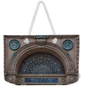 Wrought Iron Grille - The Omaha Building Weekender Tote Bag