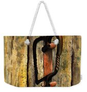 Wrought Iron Handle Weekender Tote Bag