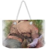 Ww II Us Army Soldier Photo Art Weekender Tote Bag