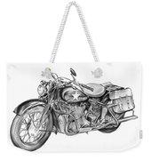 Ww2 Military Motorcycle Weekender Tote Bag