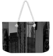 Wyoming Coal Mine Composition Black And White Weekender Tote Bag