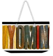 Wyoming Weekender Tote Bag