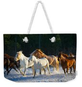 Wyoming Horses Weekender Tote Bag